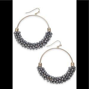 """INC Large Bead Medium Hoop Earrings , 2"""""""